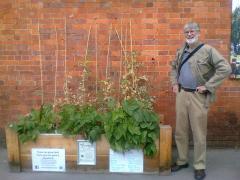 David Knight and planter Rosemary