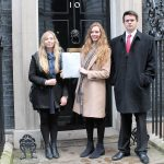 Emily Cox Emily Cox Tom Storey-Angell give letter to 10 Downing St 4.jpg